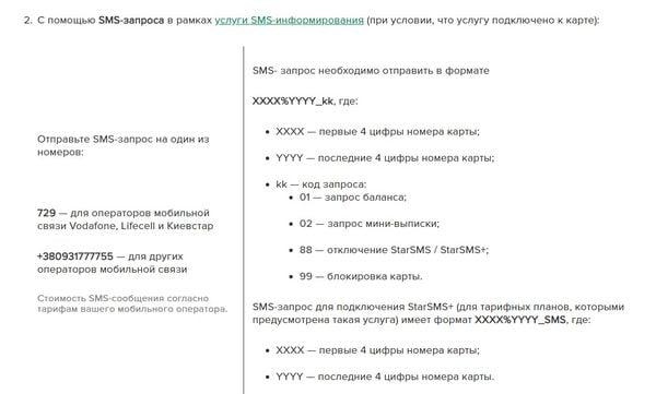 Смс-банкінг Укрсиббанк